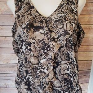 L sleeveless top animal/snake print